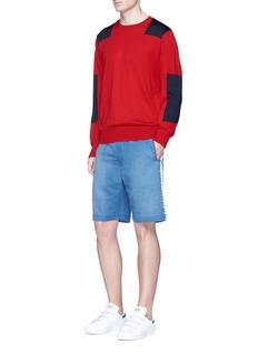 Stella McCartneyContrast block intarsia virgin wool sweater