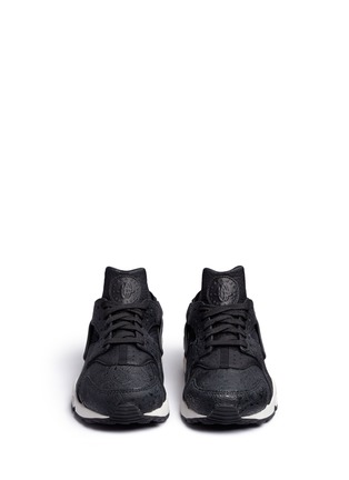 Front View - Click To Enlarge - Nike - 'Air Huarache Run Premium' paisley embossed leather sneakers
