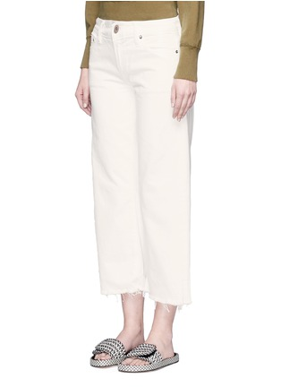Front View - Click To Enlarge - Simon Miller - 'Lamere' frayed cuff cropped wide leg jeans