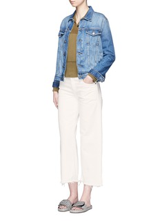 Simon Miller 'Lamere' frayed cuff cropped wide leg jeans