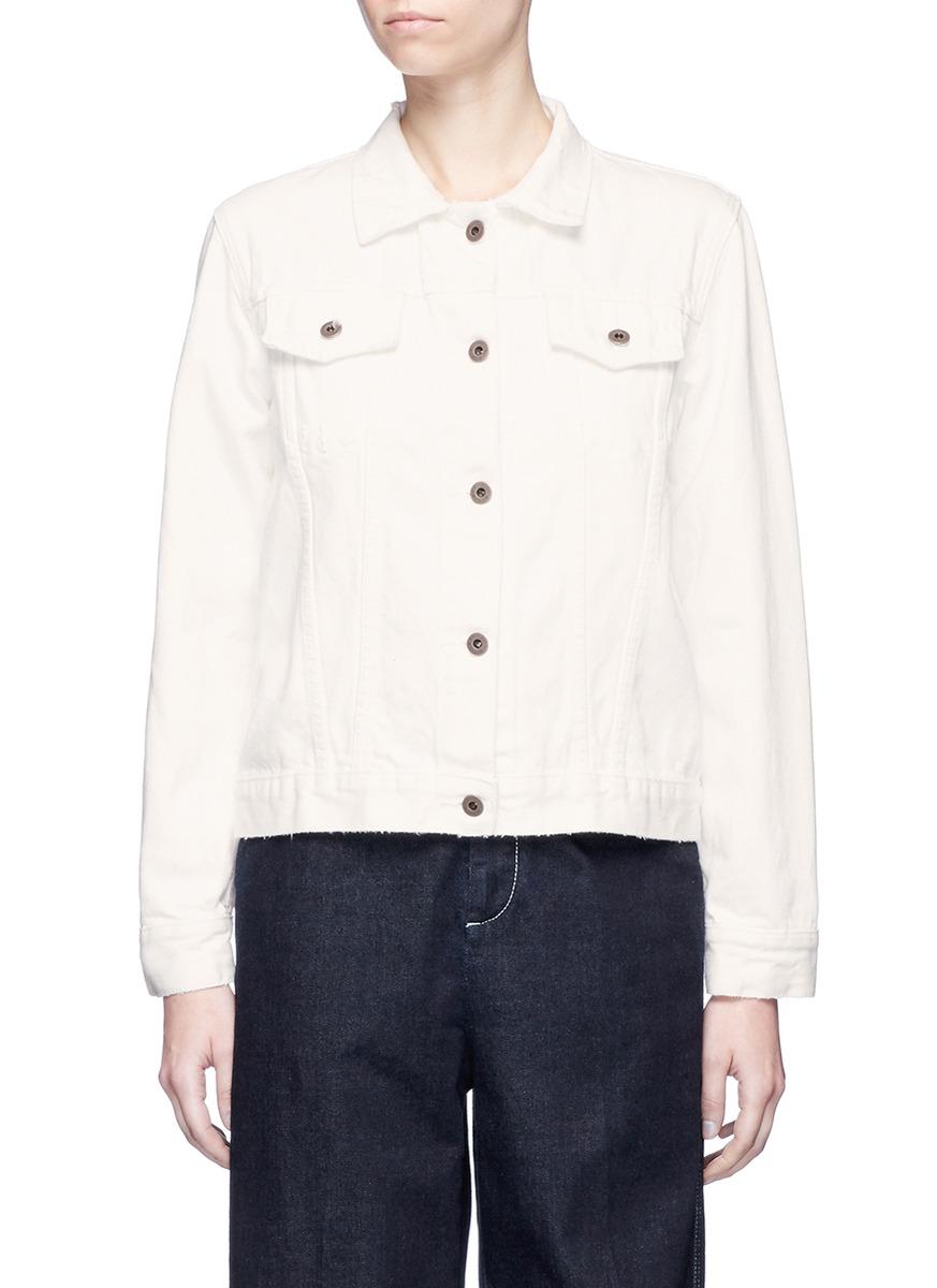 Howe raw edge denim jacket by Simon Miller