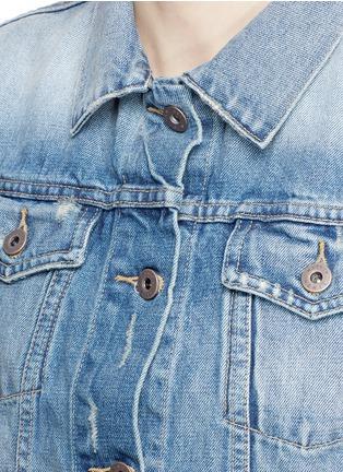 Detail View - Click To Enlarge - Simon Miller - 'Keyes' cropped distressed denim jacket