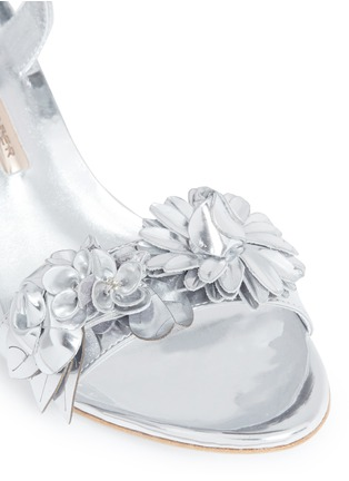 Detail View - Click To Enlarge - Sophia Webster - 'Lilico' floral appliqué mirror leather sandals