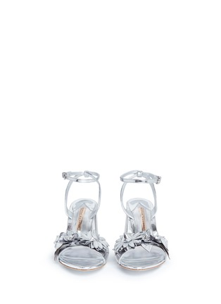 Front View - Click To Enlarge - Sophia Webster - 'Lilico' floral appliqué mirror leather sandals