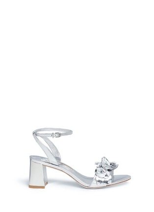 Main View - Click To Enlarge - Sophia Webster - 'Lilico' floral appliqué mirror leather sandals