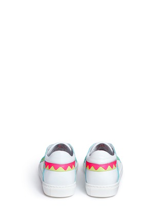 Back View - Click To Enlarge - Sophia Webster - 'Riko' stitched trim leather sneakers