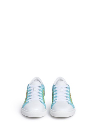 Front View - Click To Enlarge - Sophia Webster - 'Riko' stitched trim leather sneakers
