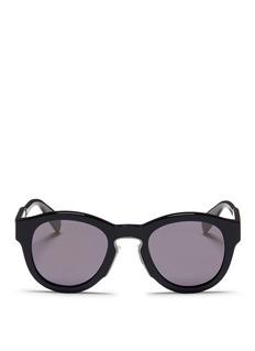 Alexander McQueenOversized acetate round sunglasses