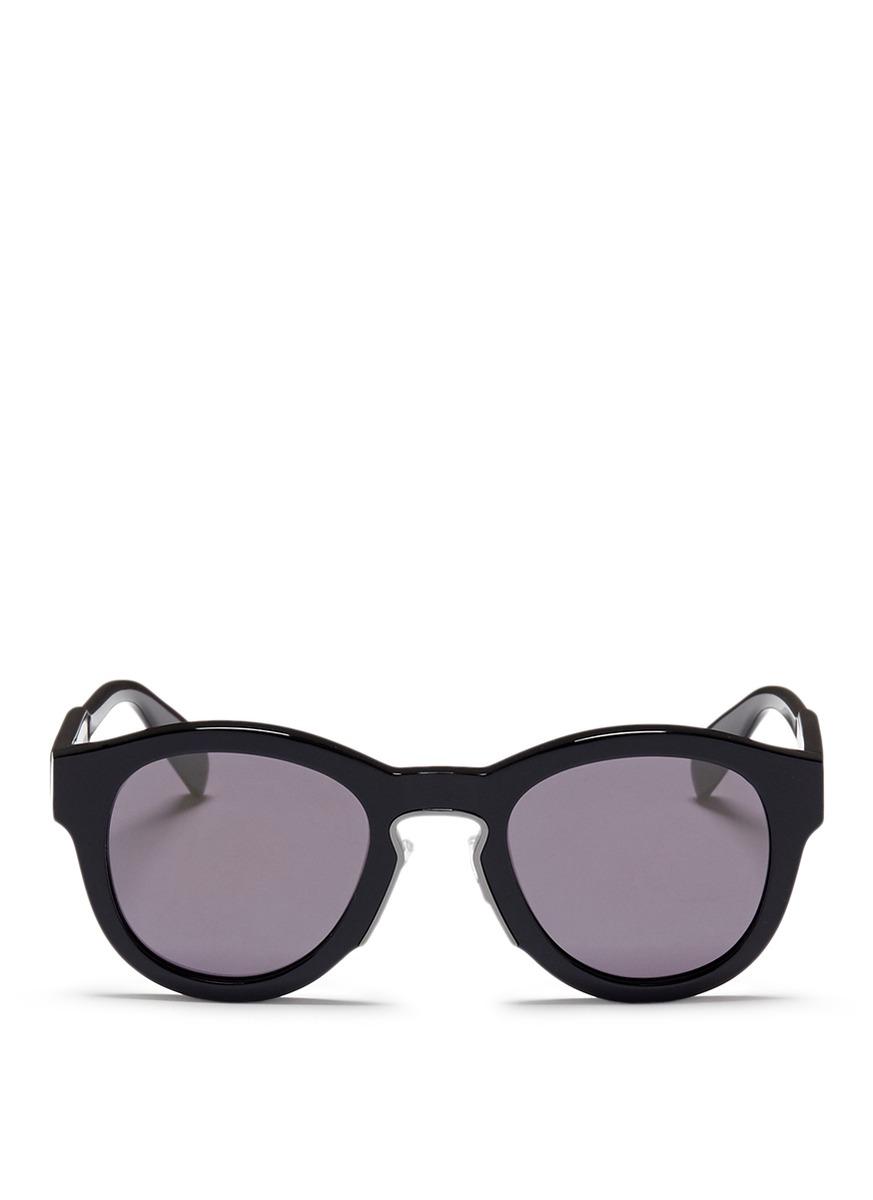 alexander mcqueen male oversized acetate round sunglasses
