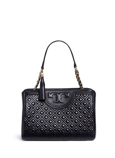 Tory Burch'Fleming' quilted leather shoulder bag