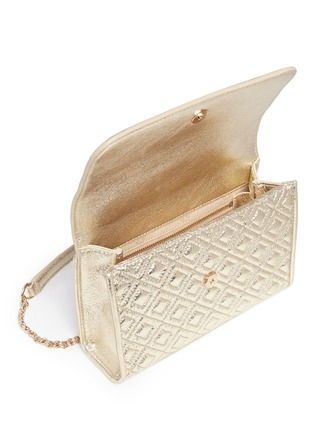 - Tory Burch - 'Fleming' small convertible metallic leather shoulder bag