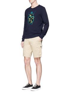 Scotch & SodaBeetle appliqué cotton sweatshirt