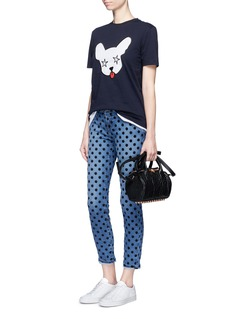 Etre Cecile  'Starry Dog' embroidered jersey T-shirt