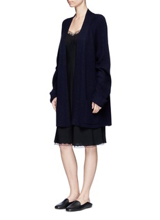 The Row'Santi' lace trim silk slip dress