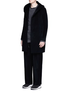 ATTACHMENT Wide leg wool cashmere blend pants