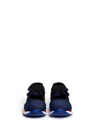 Front View - Click To Enlarge - Marni - Strap mesh techno fabric sneakers