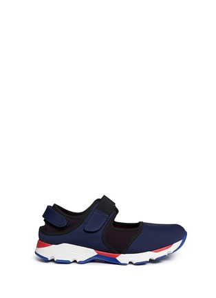 Main View - Click To Enlarge - Marni - Strap mesh techno fabric sneakers