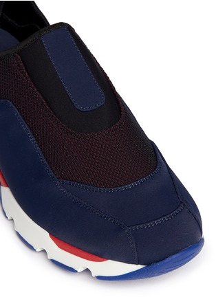 细节 - 点击放大 - Marni - Colourblock techno fabric slip-on sneakers