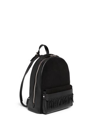 Front View - Click To Enlarge - 3.1 Phillip Lim - 'Bianca' mini fringe pocket leather backpack