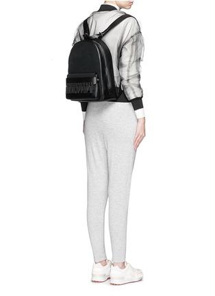 Figure View - Click To Enlarge - 3.1 Phillip Lim - 'Bianca' mini fringe pocket leather backpack