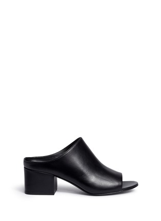Main View - Click To Enlarge - 3.1 Phillip Lim - Open toe calfskin leather mules