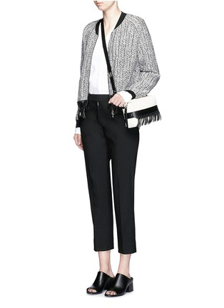 Figure View - Click To Enlarge - 3.1 Phillip Lim - 'Bianca' small fringe leather crossbody bag