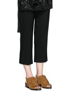 3.1 PHILLIP LIM'Alexa' fringed suede sandal booties