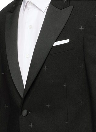 Detail View - Click To Enlarge - Neil Barrett - Rubberised star print tuxedo blazer