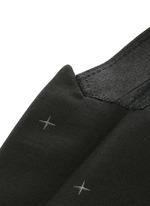 Rubberised star print tuxedo blazer