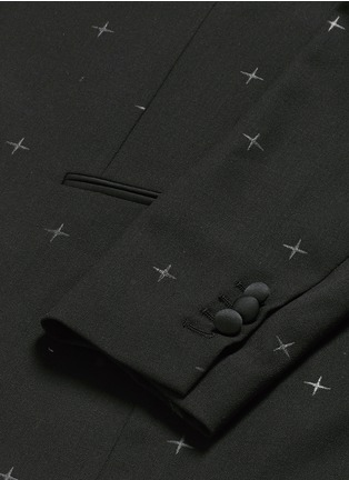 - Neil Barrett - Rubberised star print tuxedo blazer