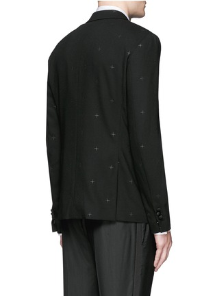 Back View - Click To Enlarge - Neil Barrett - Rubberised star print tuxedo blazer