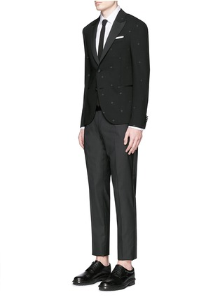 Figure View - Click To Enlarge - Neil Barrett - Rubberised star print tuxedo blazer