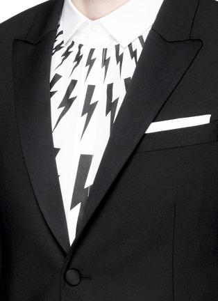 Detail View - Click To Enlarge - Neil Barrett - Satin peak lapel skinny fit tuxedo blazer