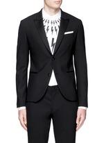 Satin peak lapel skinny fit tuxedo blazer