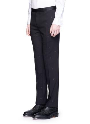 NEIL BARRETT-十字星提花初剪羊毛直脚裤
