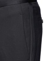Satin tuxedo stripe skinny fit pants
