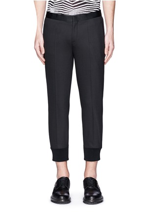 Main View - Click To Enlarge - Neil Barrett - Satin tuxedo stripe skinny fit pants
