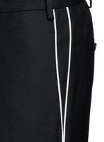 Zip cuff virgin wool blend pants