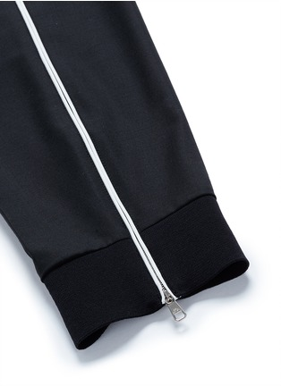 Detail View - Click To Enlarge - Neil Barrett - Zip cuff virgin wool blend pants