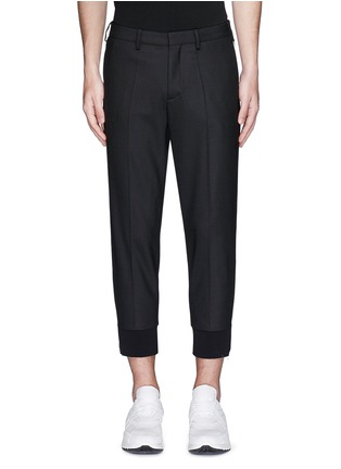Main View - Click To Enlarge - Neil Barrett - Zip cuff virgin wool blend pants