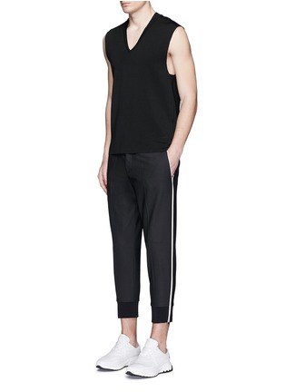 Figure View - Click To Enlarge - Neil Barrett - Zip cuff virgin wool blend pants