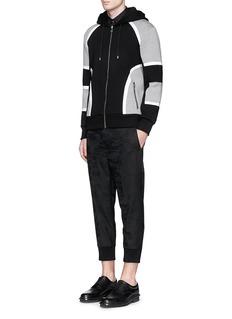 NEIL BARRETTBonded jersey zip hoodie
