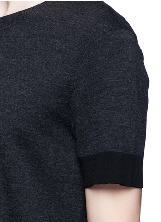 Detail View - Click To Enlarge - Neil Barrett - Contrast cuff double face wool sweater
