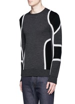 Biker ribbing Merino wool sweater