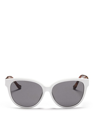 Main View - Click To Enlarge - The Row - x Linda Farrow leather temple cat eye sunglasses