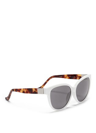 Figure View - Click To Enlarge - The Row - x Linda Farrow leather temple cat eye sunglasses