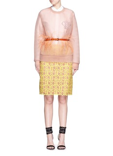 EMILIO PUCCILogo embroidery double tulle sweatshirt