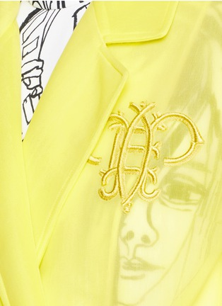 Detail View - Click To Enlarge - Emilio Pucci - Logo embroidery double tulle overcoat