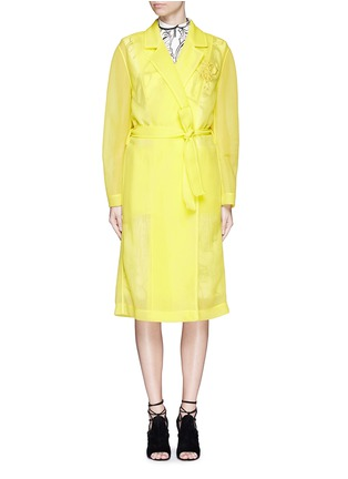 Main View - Click To Enlarge - Emilio Pucci - Logo embroidery double tulle overcoat