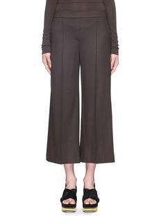 THEORY'Raoka' virgin wool blend stretch flannel culottes